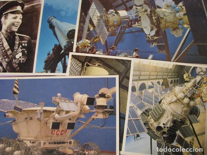 Postales: BLOCK POSTALES DE LA EXPOSICIÓN DE LOGROS DE ECONOMÍA DE URSS. PABELLÓN COSMOS, ESPACIO. AÑOS 80. - Foto 3 - 111512719
