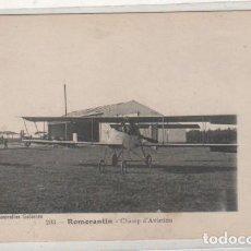 Postales: REMORANTIN CAMPO DE AVIACION AEROPUERTO. ESCRITA SIN CIRCULAR. AVION. AVIACIÓN. . Lote 111993067