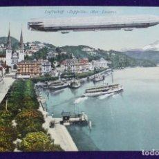 Postales: ANTIGUA POSTAL DE LUFTSCHIFF ZEPPELIN ÜBER LUZERN. SUIZA. AÑO 1910. MUY BIEN CONSERVADA. . Lote 112146559