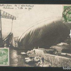 Postales: DIRIGIBLE CITTÀ DI IESI DESTRUIDO EN LA CIUDAD DE POLA ITALIA - P23523. Lote 112480223