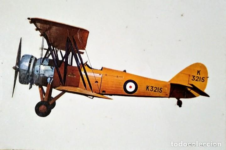 POSTAL AVIONETA K3215 AVRO TUTOR 1931 10,3 X 14,9 ESCRITA - SIN SELLO (Postales - Postales Temáticas - Aeroplanos, Zeppelines y Globos)