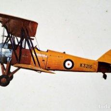 Postales: POSTAL AVIONETA K3215 AVRO TUTOR 1931 10,3 X 14,9 ESCRITA - SIN SELLO. Lote 115403611