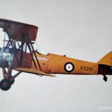 Postales: POSTAL AVIONETA K3215 AVRO TUTOR 1931 10,3 X 14,9 ESCRITA - SIN SELLO. Lote 115403663