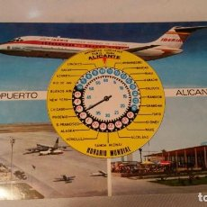Postales: POSTAL AEROPUERTO DE ALICANTE - IBERIA. Lote 115713371