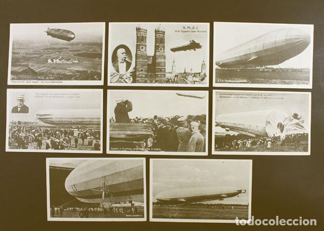 LOTE 8 POSTALES ALEMANAS DEL GRAF ZEPPELIN, AÑOS 20/30 NUEVAS SIN CIRCULAR (Postales - Postales Temáticas - Aeroplanos, Zeppelines y Globos)