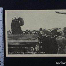 Postales: POSTAL ALEMANA DEL GRAF ZEPPELIN EN LEPIZIG , AÑOS 20/30 NUEVAS SIN CIRCULAR. Lote 118003679