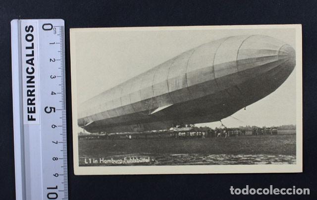 POSTAL ALEMANA DEL GRAF ZEPPELIN EN HAMBURGO , AÑOS 20/30 NUEVA SIN CIRCULAR (Postales - Postales Temáticas - Aeroplanos, Zeppelines y Globos)