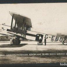 Postales: AEROPLANO SILVER WING - AERODROMO CROYDON - IMPERIAL AIRWAYS - P26031. Lote 119524511