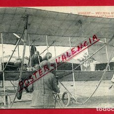 Postales: POSTAL FRANCIA, ANGERS, MEETING D´AVIATION, LEGAGUEUX SUR BIPLAN SOMMER, P88225. Lote 120378975