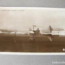 Postales: POSTAL FOTOGRÁFICA DE UN AEROPLANO. L´AEROPLANE LATHAM AU DÉPART. Lote 120884135
