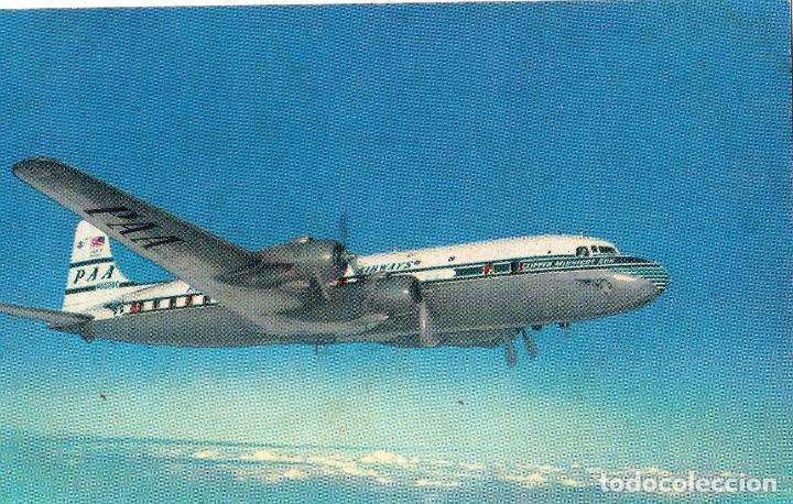 TARJETA POSTAL DEL NUEVO CLIPPER SUPER 6. DE LA PAN AMERICAN WORLD AIRWAYS. (Postales - Postales Temáticas - Aeroplanos, Zeppelines y Globos)
