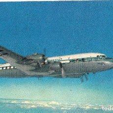 Postales: TARJETA POSTAL DEL NUEVO CLIPPER SUPER 6. DE LA PAN AMERICAN WORLD AIRWAYS.. Lote 121595483