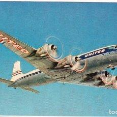 Postales: DC-7 MAINLINERS. UNITES AIR LINES. Lote 124574231