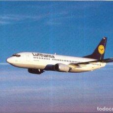 Postales: == P304 - POSTAL - LUFTHANSA BOEING 737-300. Lote 124732551