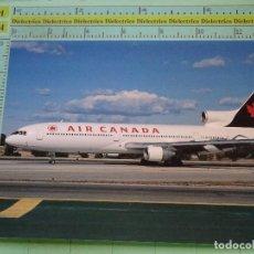 Postales: POSTAL DE AVIONES AEROLÍNEAS. AVIÓN LOCKHEED L1011 DE AIR CANADA EN AEROPUERTO LOS ANGELES. 1561. Lote 125861867