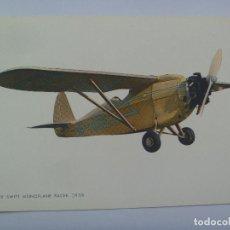 Postales: POSTAL CON DIBUJO DE UN AVION MONOPLANO : CAMPER SWIFT MONOPLANE RACE ( 1930 ). Lote 126124195