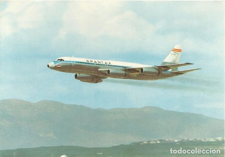 SPANTAX - CONVAIR CV 990 A CORONADO - I.G.DOMINGO - EDITADA EN 1969 - S/C (Postales - Postales Temáticas - Aeroplanos, Zeppelines y Globos)