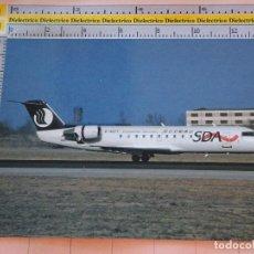 Postales: POSTAL DE AVIONES AEROLÍNEAS. AVIÓN CANADAIR RJ200 DE SHANDONG AIRLINES CHINA. 21. Lote 127592287