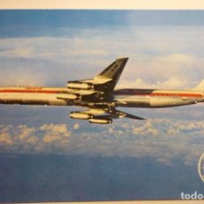 Postales: POSTAL IBERIA-JET DOUGLAS SUPER DC 8. Lote 127597727