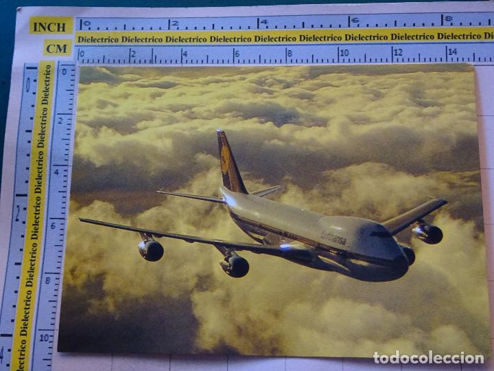 POSTAL DE AVIONES AEROLÍNEAS. AVIÓN BOEING 747 200 DE LUFTHANSA. ALEMANIA. 520 (Postales - Postales Temáticas - Aeroplanos, Zeppelines y Globos)