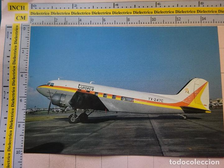POSTAL DE AVIONES AEROLÍNEAS. AÑO 1985. AVIÓN DC3 DE TURORCA, VENEZUELA. 719 (Postales - Postales Temáticas - Aeroplanos, Zeppelines y Globos)