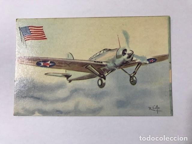 TARJETA POSTAL AVIÓN CHOCOLATES LA ESTRELLA Nº 5 BREWSTER F. 2 A-1 (Postales - Postales Temáticas - Aeroplanos, Zeppelines y Globos)