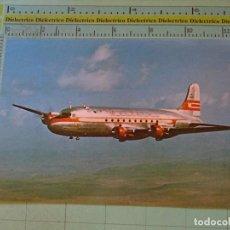 Postales: POSTAL DE AVIONES AEROLÍNEAS. AVIÓN DC4 DE WESTERN AIRLINES. 828. Lote 129395171