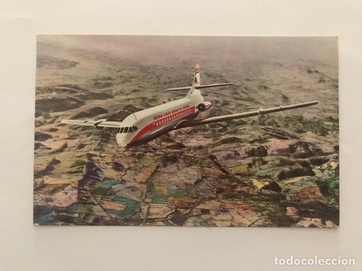 AVIÓN CARAVELLE (VI-R) AIR FRANCE 27 DE MAYO DE 1955 (Postales - Postales Temáticas - Aeroplanos, Zeppelines y Globos)