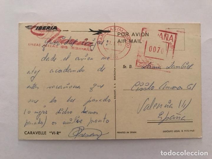 Postales: AVIÓN CARAVELLE (VI-R) Air France 27 de Mayo de 1955 - Foto 2 - 129723603