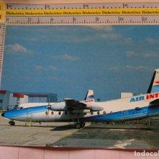 Postales: POSTAL DE AVIONES AEROLÍNEAS. AVIÓN FOKKER 27 DE AIR INTER EN AEROPUERTO DE PARIS ORLY. 1153. Lote 221170232