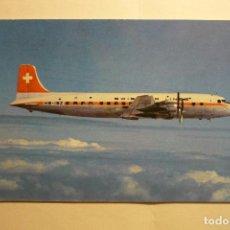 Postcards - postal avion douglas dc 6b swissair - 130400850