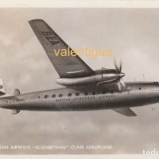 Postales: PRECIOSA POSTAL. AEROPLANO. BRITISH EUROPEAN AIRWAYS ELIZABETHAN CLASS AEROPLANE. AÑOS 50.. Lote 130707709