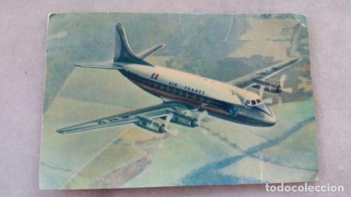 ANTIGUA POSTAL SAPHO - REF. 905 AIR FRANCE VICKERS VISCOUNT (Postales - Postales Temáticas - Aeroplanos, Zeppelines y Globos)