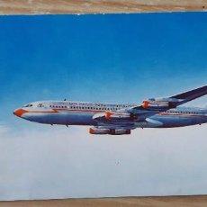 Postales: ANTIGUA POSTAL DE UN JET 707 DE AMERICAN AIRLINES AÑOS 60. Lote 132422006