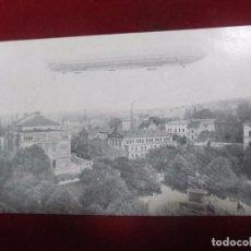Postales: ANTIGUA POSTAL, TEMA ZEPPELIN - CON SELLO (AÑO 1910). Lote 133033170