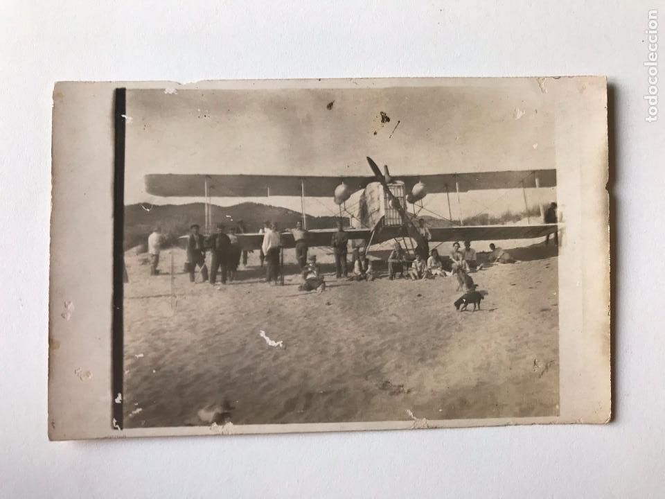 TARJETA POSTAL FOTOGRAFIA DE AVIONETA (Postales - Postales Temáticas - Aeroplanos, Zeppelines y Globos)