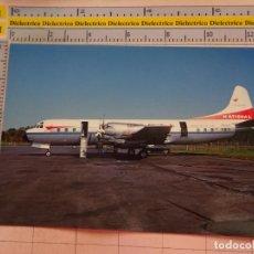 Postales: POSTAL DE AVIONES AEROLÍNEAS. AVIÓN LOCKHEED ELECTRA NATIONAL AIRLINES AEROPUERTO LOS ANGELES 2282. Lote 133590518