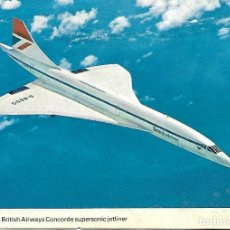 Postales: THE BRITISH AIRWAYS CONCORDE SUPERSONIC JETLINER. Lote 134091822