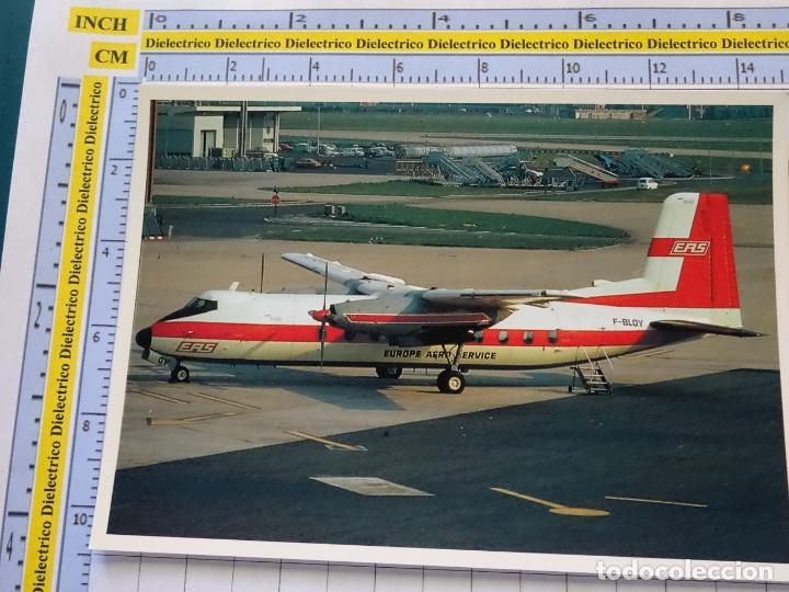POSTAL DE AVIONES AEROLÍNEAS  AVIÓN HANDLEY PAGE HERALD 210 DE EUROPE AERO  SERVICE  PARIS ORLY 1405