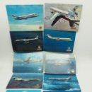 Postales: LOTE DE POSTALES IBERIA AVIONES CARAVELLE, BOEING, DOUGLAS, 747, JUMBO, COSTA BRAVA. Lote 134342178