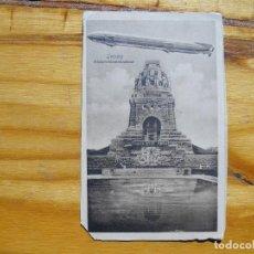 Postales: ALEMANIA. LEIPZIG. ZEPPELIN. CIRCULADA EN 1911.. Lote 134979350