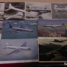 Postales: B-109.- LOTE DE -- 10 -- POSTALES DE -AVIONES- DE DIVERSAS COMPAÑIAS , VER FOTOS DE TODOS . Lote 135832558