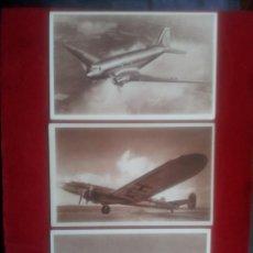 Postales: B-110.- LOTE DE 3 POSTALES DE LA COLECCION AIR FRANCE , DOUGLAS DC3 Y LAGUEDOC 161, Nº 1-3-6-. Lote 135884426
