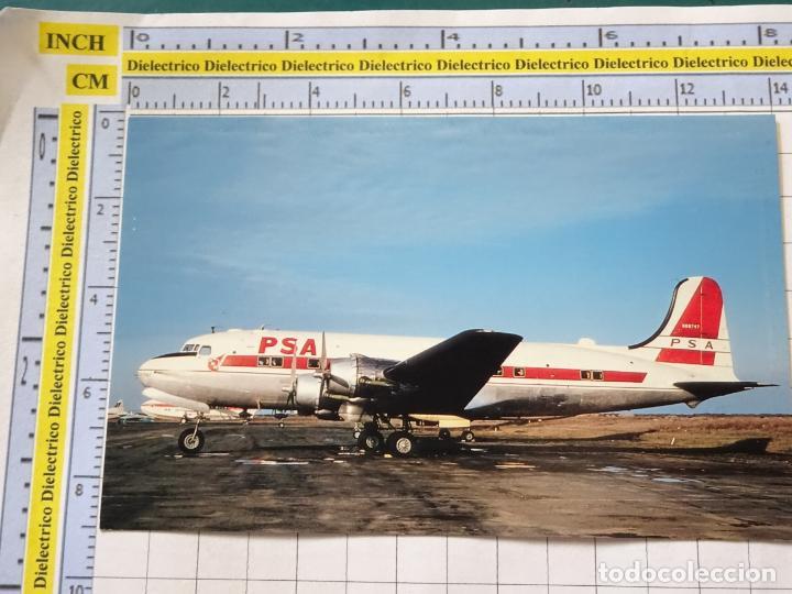 POSTAL DE AVIONES AEROLÍNEAS. AVIÓN MCDONNELL DOUGLAS DC4 DE PACIFIC SOUTHWEST AIRLINES. 229 (Postales - Postales Temáticas - Aeroplanos, Zeppelines y Globos)