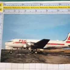 Postales - POSTAL DE AVIONES AEROLÍNEAS. AVIÓN MCDONNELL DOUGLAS DC4 DE PACIFIC SOUTHWEST AIRLINES. 229 - 137155318