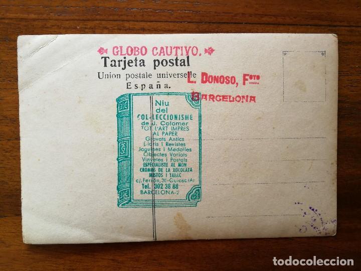 Postales: GLOBO ESTATICO - BARCELONA - PRIMERA DECADA DEL SIGLO XX - sin circular - L. Donoso , fotógrafo - Foto 2 - 137320070