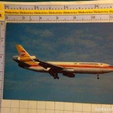 Postales: POSTAL DE AVIONES AEROLÍNEAS. AVIÓN MCDONNELL DOUGLAS DC10 DE CONTINENTAL AIRLINES. 488. Lote 138625122