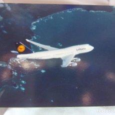 Postales: LUFTHANSA BOEING 747-400- PRINTED IN GERMANY-. Lote 139677894