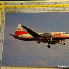 Postales: POSTAL DE AVIONES AEROLINEAS. AVIÓN CONVAIR 580 DE DHL 1166. Lote 139770398