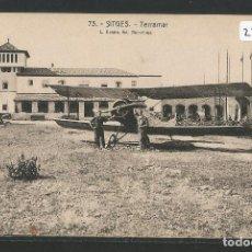 Postales: AVIONETA - SITGES - HOTEL TERRAMAR - P27090. Lote 139828210